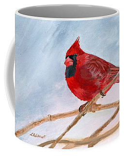 Coffee Mug featuring the painting A Touch Of Red by Lynne Reichhart