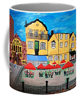 A Town Square On A Clear Day Coffee Mug