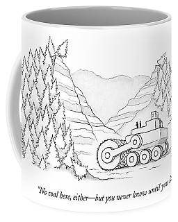 A Tractor Razes Thousands Of Trees Coffee Mug