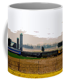 Coffee Mug featuring the photograph A Train Runs Through It by Nina Silver