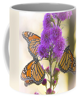 A Trio Of Monarchs Coffee Mug