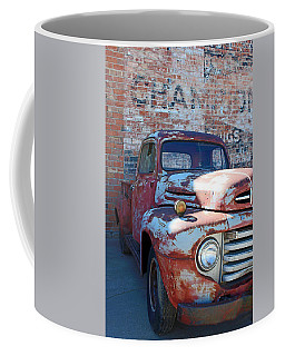 Coffee Mug featuring the photograph A Truck In Goodland by Lynn Sprowl