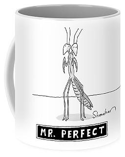 A Two Headed Mantis Is Standing Coffee Mug