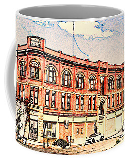 A Typical Day In Pueblo In Colored Pencil Coffee Mug by Kelly Awad