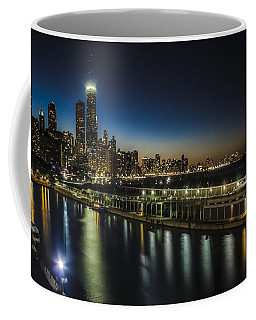 A Unique Look At The Chicago Skyline At Dusk Coffee Mug