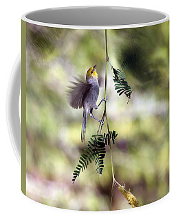 Coffee Mug featuring the photograph A Verdin's Quest by Tam Ryan