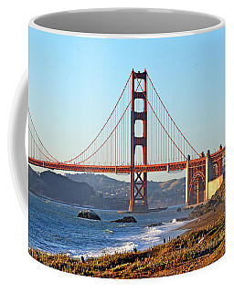 Coffee Mug featuring the photograph A View Of The Golden Gate Bridge From Baker's Beach  by Jim Fitzpatrick