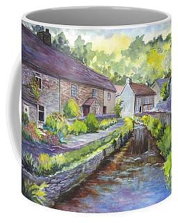 Coffee Mug featuring the painting A Village In Castleton In Derbyshire Uk by Carol Wisniewski
