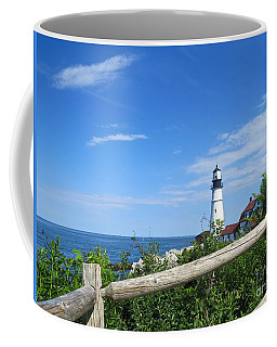A Walk By The Light  Coffee Mug by Nancy Patterson