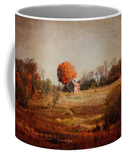 A Walk In The Meadow With Texture Coffee Mug by Trina  Ansel
