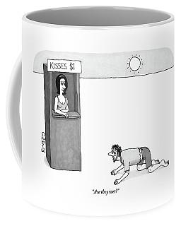 A Wandering Man In The Desert Stumbles Coffee Mug