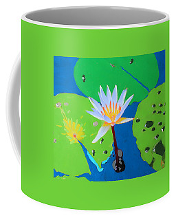 Coffee Mug featuring the mixed media A Water Lily In Its Pad by Deborah Boyd