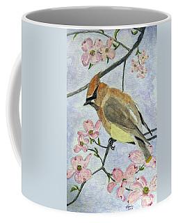 A Waxwing In The Dogwood Coffee Mug