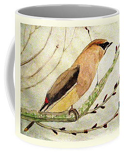 A Waxwing In The Orchard Coffee Mug