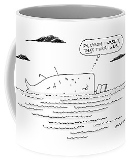 A Whale Reads A Book While Thinking Oh Coffee Mug