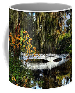 Coffee Mug featuring the photograph A White Bridge 3 by Mel Steinhauer