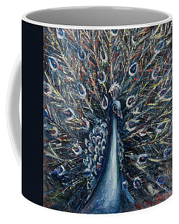 A White Peacock Coffee Mug