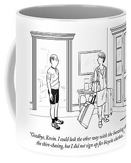 A Wife With Luggage Leaves Her Husband Coffee Mug