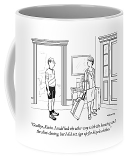 A Wife With Luggage Leaves Her Husband Coffee Mug