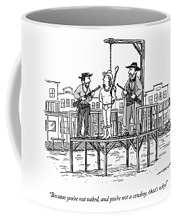 A Wild West Sheriff And Deputy Are About To Hang Coffee Mug