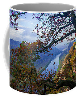 A Window To The Elbe In The Saxon Switzerland Coffee Mug
