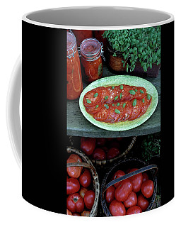 A Wine & Food Cover Of Tomatoes Coffee Mug