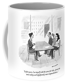 A Woman At A Job Interview Coffee Mug