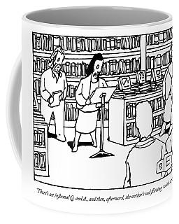 A Woman Behind A Podium Speaks To A Crowd Coffee Mug