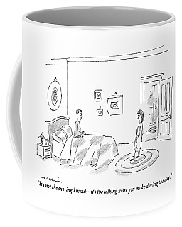 A Woman Complains About The Talking Noise Coffee Mug