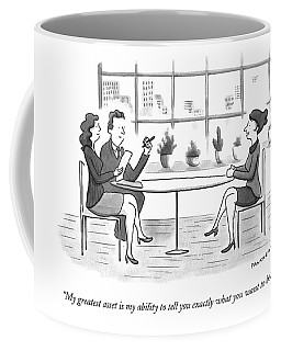 A Woman Interviews For A Job Coffee Mug