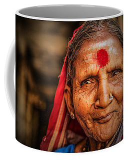 A Woman Of Faith Coffee Mug by Valerie Rosen