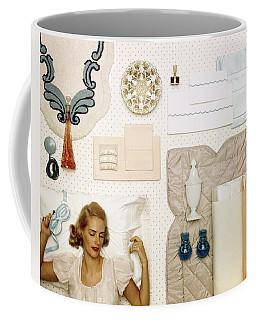 A Woman Sleeping Next To An Assorted Range Coffee Mug