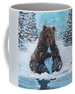 A Young Brown Bear Coffee Mug