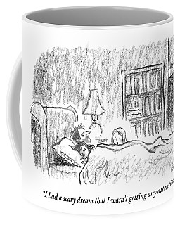 A Young Girl Wakes Up Her Sleeping Parents Coffee Mug
