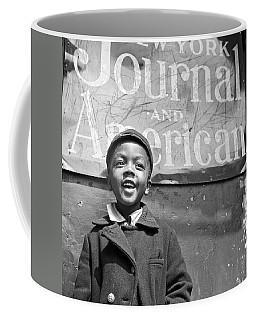 A Young Harlem Newsboy Coffee Mug