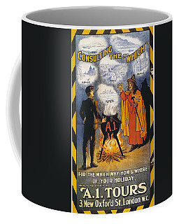 Coffee Mug featuring the photograph A1 Tours Vintage Travel Poster by Gianfranco Weiss