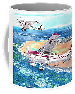 Cessna 206 And A1a Husky Coffee Mug by Jack Pumphrey
