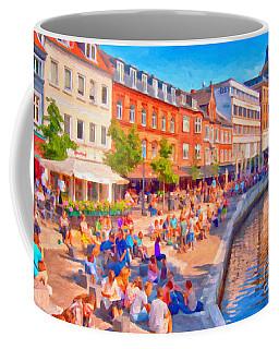 Aarhus Canal Digital Painting Coffee Mug by Antony McAulay