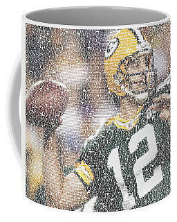 Aaron Rodgers Quotes Mosaic Coffee Mug by Paul Van Scott