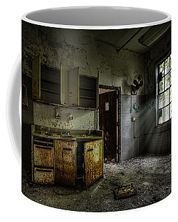 Abandoned Building - Old Asylum - Open Cabinet Doors Coffee Mug