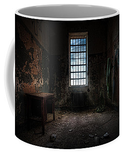 Coffee Mug featuring the photograph Abandoned Building - Old Room - Room With A Desk by Gary Heller