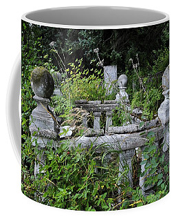 Coffee Mug featuring the photograph Abandoned Cemetery 2 by Cathy Mahnke