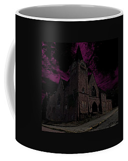 Abandoned Baptist Church At Night Coffee Mug