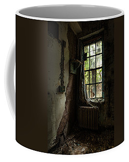 Coffee Mug featuring the photograph Abandoned - Old Room - Draped by Gary Heller