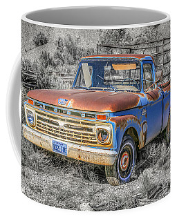 Coffee Mug featuring the photograph Abandoned Pick Up Truck by Susan Leonard