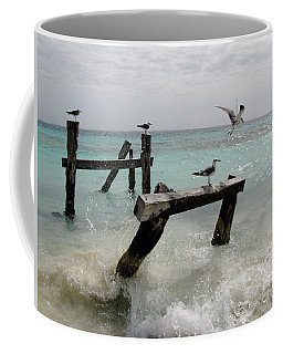 Coffee Mug featuring the photograph Abandoned Pier by Sean Griffin