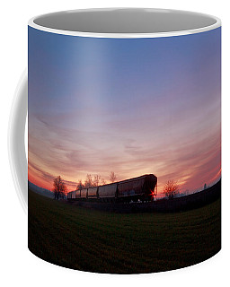 Coffee Mug featuring the photograph Abandoned Train  by Eti Reid