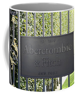Abercrombie And Fitch Store In Paris France Coffee Mug by Richard Rosenshein