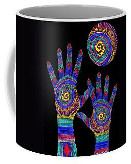 Aboriginal Hands To The Sun Coffee Mug