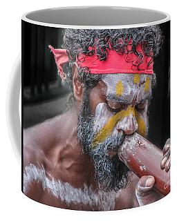 Aboriginal Playing Didgeridoo Coffee Mug